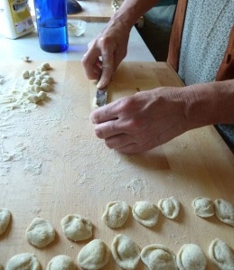 Making orecchiette