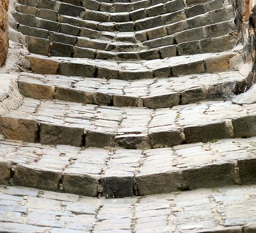 old sagging stairs