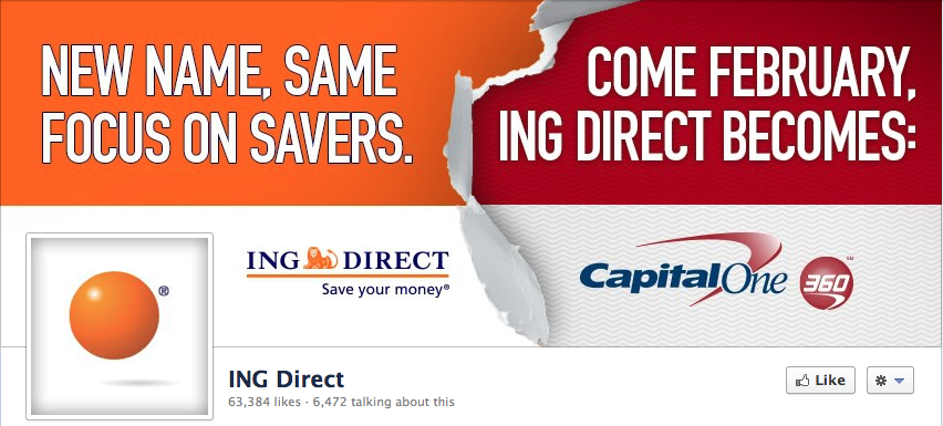 Ing Direct Merger and New Disgusting Logo
