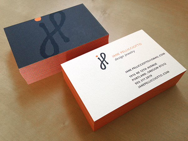 Moo Luxe business cards for jewelry line